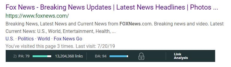 Press release domain authority fox news