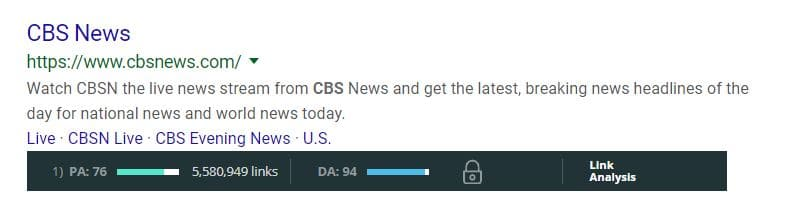 press release domain authority CBS news