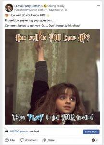 Harry Potter Quiz Example
