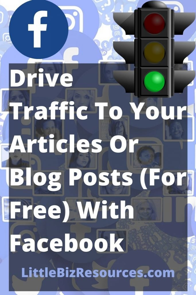 Drive Traffic To Your Articles Or Blog Posts for free with Facebook