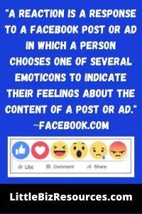 Facebook Reaction Definition