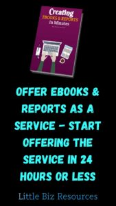 Offer eBooks & Reports as a Service - Start Offering The Service in 24 hours or less